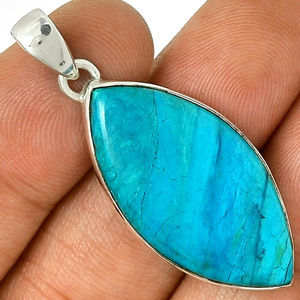 Rare Blue Peruvian Opaline in 925 Sterling Silver
